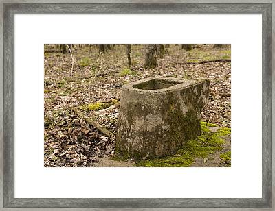 Toilet Remains 1 A Framed Print by John Brueske