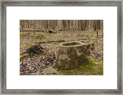Toilet Remains 1 B Framed Print by John Brueske