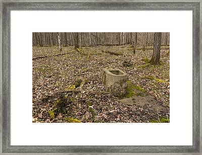 Toilet Remains 1 C Framed Print by John Brueske