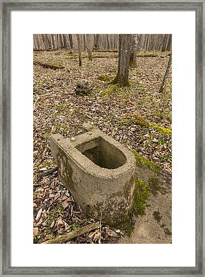 Toilet Remains 1 E Framed Print by John Brueske