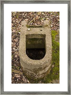 Toilet Remains 1 F Framed Print by John Brueske