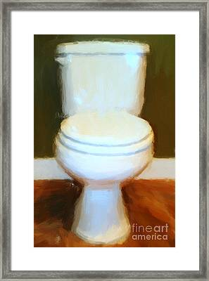 Toilet Framed Print by Wingsdomain Art and Photography