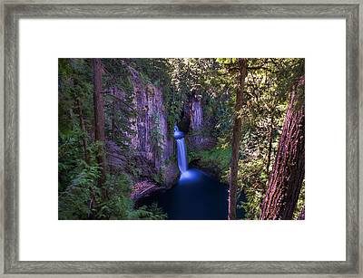 Tokatee Falls Oregon Framed Print by Scott McGuire