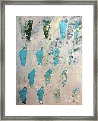 Framed Print featuring the painting Tokens by Robin Maria Pedrero