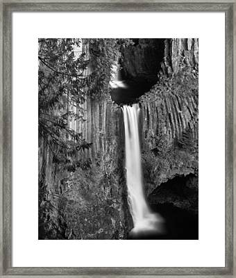 Toketee Falls Framed Print by Leland D Howard
