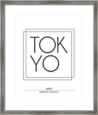 Tokyo City Print With Coordinates Framed Print