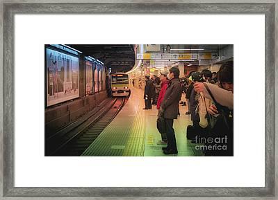 Tokyo Metro, Japan Framed Print