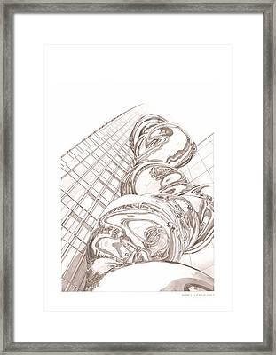 Tokyo Midtown Tower Framed Print