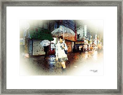 Rainytokyo Night Framed Print