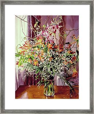 Tokyo Orchid Arrangement Framed Print