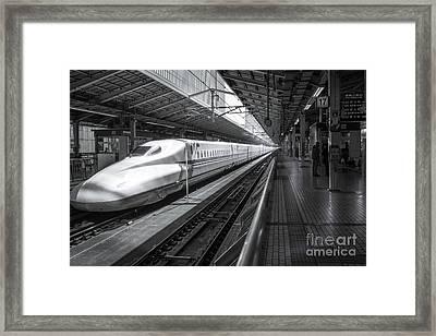 Tokyo To Kyoto, Bullet Train, Japan Framed Print
