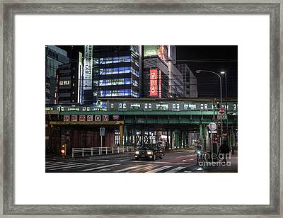 Tokyo Transportation, Japan Framed Print