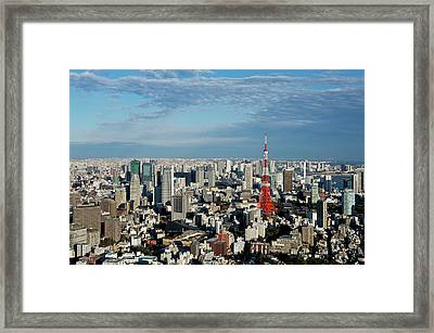 Tokyo View At Daylight Framed Print
