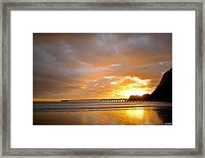 Tolaga Bay Pier IIi Framed Print by Andrea Cadwallader