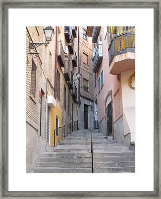 Toledo Alley Steps Framed Print