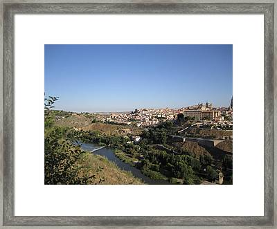 Toledo And The Country Side Framed Print