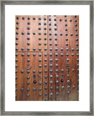 Toledo Antique Door Framed Print
