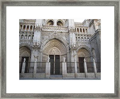 Toledo Cathedral Face To Face Framed Print