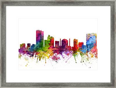 Toledo Cityscape 06 Framed Print by Aged Pixel