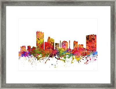 Toledo Cityscape 08 Framed Print by Aged Pixel