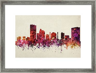 Toledo Cityscape 09 Framed Print by Aged Pixel