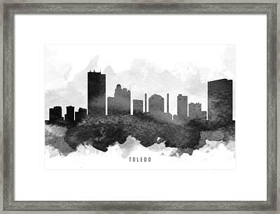 Toledo Cityscape 11 Framed Print