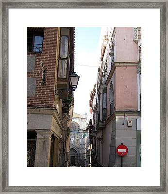 Toledo Do Not Enter Framed Print