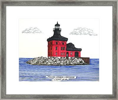 Toledo Harbor Lighthouse Framed Print by Frederic Kohli