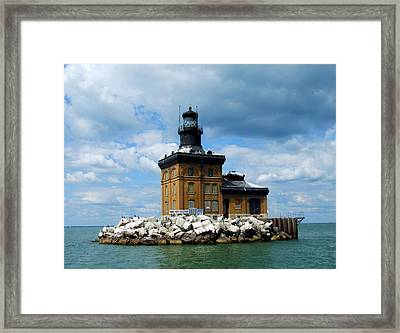 Framed Print featuring the photograph Toledo Harbor Lighthouse by Michiale Schneider