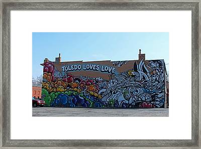 Framed Print featuring the photograph Toledo Loves Love by Michiale Schneider