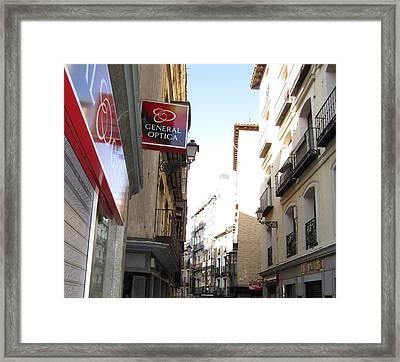 Toledo Narrow Street Framed Print