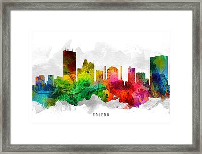 Toledo Ohio Cityscape 12 Framed Print by Aged Pixel