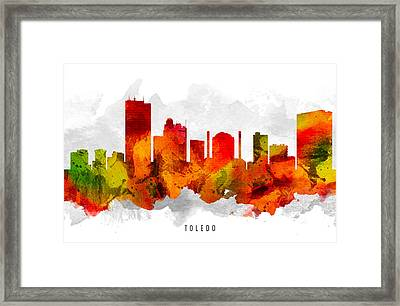 Toledo Ohio Cityscape 15 Framed Print by Aged Pixel