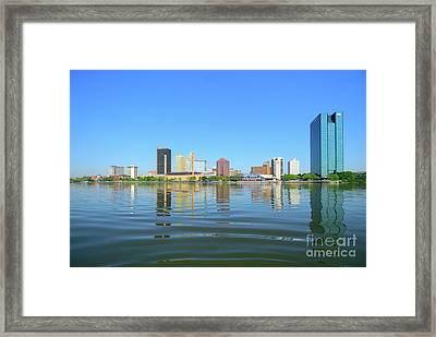 D12u-673 Toledo Ohio Skyline Photo Framed Print