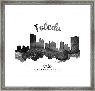 Toledo Ohio Skyline 18 Framed Print