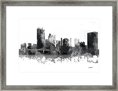 Toledo Ohio Skyline Framed Print by Marlene Watson