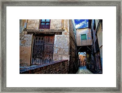 Framed Print featuring the photograph Toledo Passage  by Harry Spitz