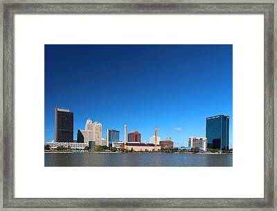 Framed Print featuring the photograph Toledo Skyline I by Michiale Schneider
