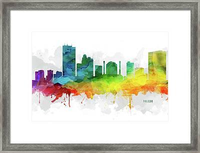 Toledo Skyline Mmr-usohto05 Framed Print by Aged Pixel