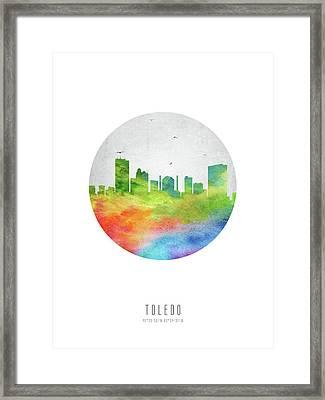 Toledo Skyline Usohto20 Framed Print by Aged Pixel