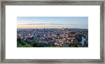 Toledo Spain Evening Sunset Framed Print