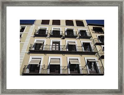 Toledo Window Shades Framed Print
