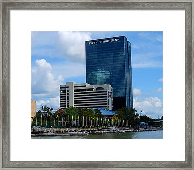 Framed Print featuring the photograph Toledo's Waterfront I by Michiale Schneider