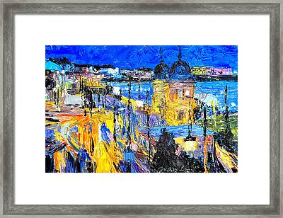 Toll Houses At Liberty Bridge Framed Print by Judith Barath