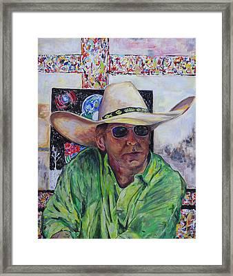 Toller Cranston In Cowboy Hat Framed Print by Andrew Osta