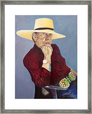 Toller Cranston With Hat Framed Print by Andrew Osta
