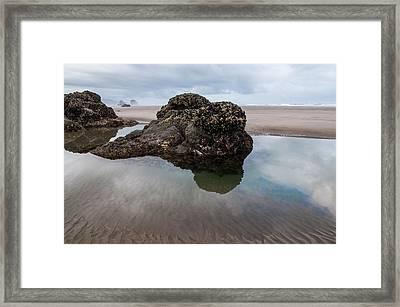 Tolovana Beach At Low Tide Framed Print