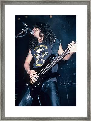 Tom Araya Of Slayer Framed Print