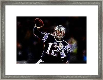 Tom Brady - New England Patriots Framed Print by Paul Ward