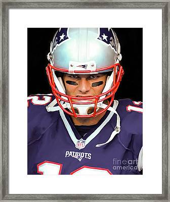 Tom Brady - Patriots Framed Print by Paul Tagliamonte